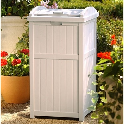 Outdoor Trash Container Hideaway - GH1732 - Outdoor Garbage Can Storage