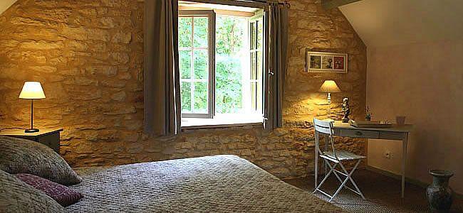 Chambres d hotes en Dordogne, chambre tilleul, chambres de charme à sarlat en perigord noir avec table d hotes
