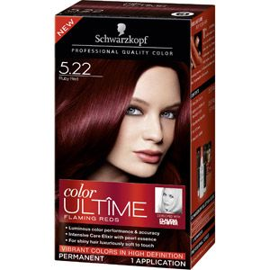 Schwarzkopf Color Ultime Flaming Reds Hair Coloring Kit, 5.22 Ruby Red