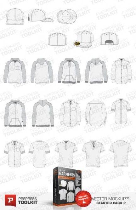 Vector t-shirt flex fit hat hood shirt long sleeve templates