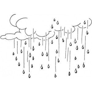 Raining coloring page