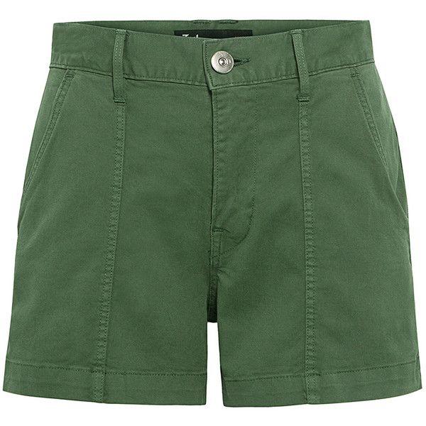 3x1 - Military Shorts (5.660 RUB) ❤ liked on Polyvore featuring shorts, military style shorts, zipper shorts and military shorts