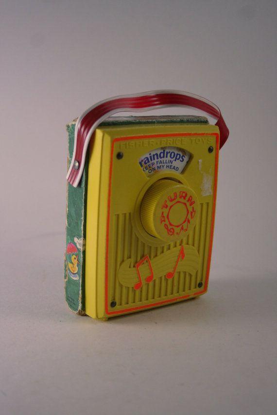 Vintage 1970s Fisher Price Pocket Radio  by TurtleHillShop on Etsy