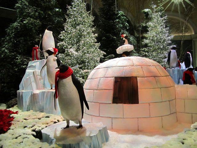 Windows Displays {Christmas Tradition} - Wendys Hat Christmas window. @michelleotten I like the igloo
