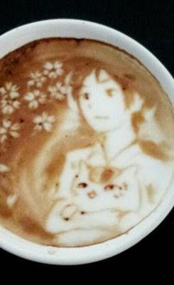 Latte Art. Coffee << Natsume Yuujinchou!!