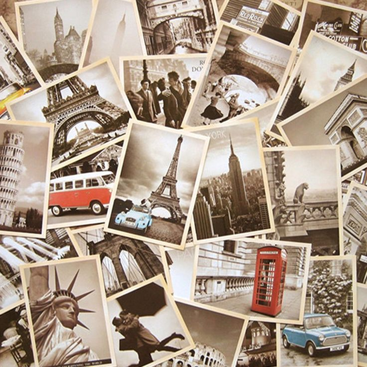 32pcs/lot Classical Famous Europe Building Vintage style memory postcard set /Greeting Cards/gift cards/Christmas postcards