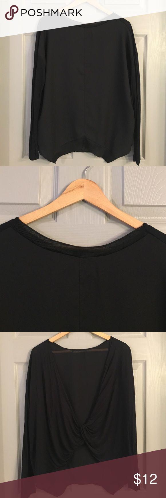 ZARA top Zara top with awesome sheer back detail Zara Tops Blouses