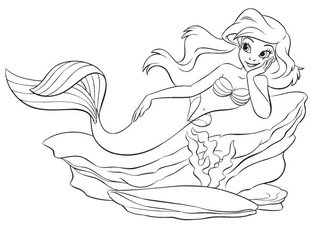 the little mermaid coloring pages google sgning - Little Mermaid Coloring Page
