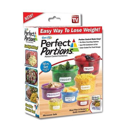 Get Fit Perfect Portions Portion Control Containers - As Seen On TV