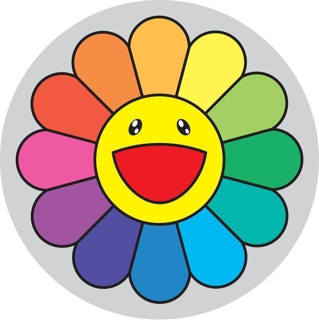 takashi murakami rainbow flower 1 o clock  2007 vector rainbow design vector rainbow images