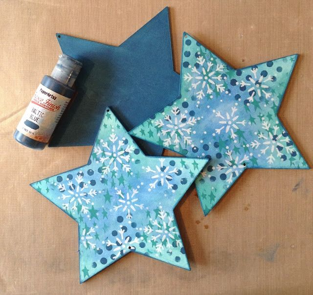 PaperArtsy: 2017 #15 Pearlescent: Star-Hanging with ETS {by Chris Cresswell}