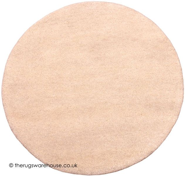 Comfort Ivory Circle Rug A Thick 100 Wool Plain Round Hand