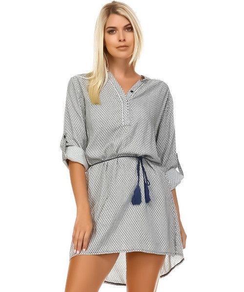 Chevron Shirt Dress