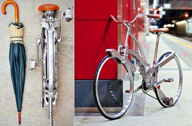 Sada Bike is spokeless and folds down to the size of an umbrella. via damngeeky #Bicycle