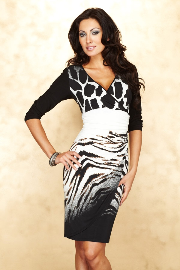 This season is all about eye-catching animal prints, dress #23138 from Frank Lyman Design Fall 2012 collection #FrankLyman