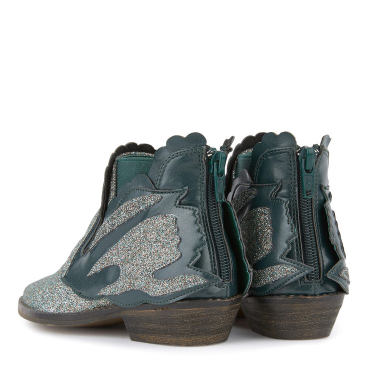Sequined Swan boots - Lily - STELLA MCCARTNEY
