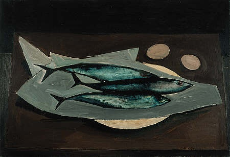 William Scott. Mackerel 1947. Scottish Art