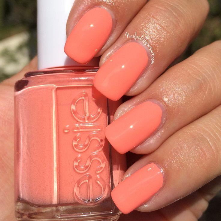 Peach Side Babe A Sun Ripe Peach Peach Nails Peach Nail Polish Manicure