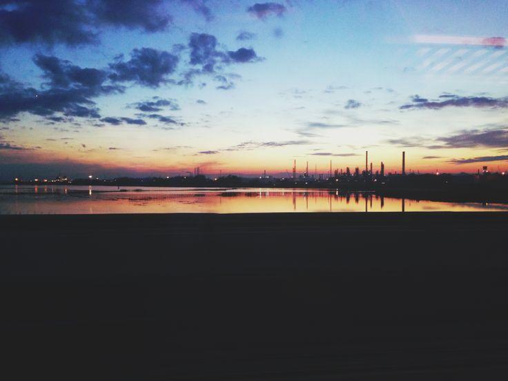 Venice train view