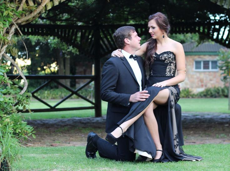 Black lace and nude Prom dress by Inge Coetzer Designer Studio