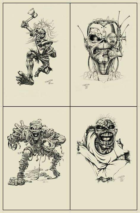 Iron Maiden Eddie Stencil