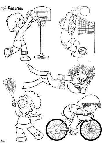 dibujos para colorear de deportes 16