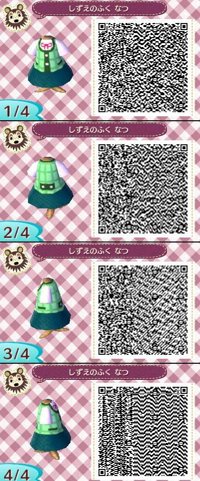 Animal Crossing New Leaf QR codes Isabelle's summer dress