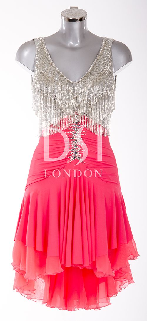 Fuchsia and Silver Latin Dress as worn by Sunetra Sarker on Strictly Come Dancing 2014. Designed by Vicky Gill and produced by DSI London