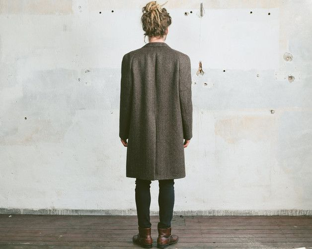 via en.dawanda.com Mens Coats – Vintage Retro 70s TWEED Wool COAT – a unique product by BetaMenswear on DaWanda