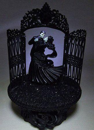Halloween Wedding Cake Toppers | Wedding Fairytale Dreams Lighted Frankenstein Wedding Cake Topper