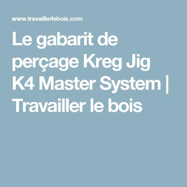 Le gabarit de perçage Kreg Jig K4 Master System | Travailler le bois