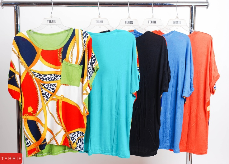 TERRIE WOMAN: BLOUSE  CODE NAME: # 11832  COLOR: YELLOW GREEN, BLUE GREEN, BLACK, BLUE, ORANGE & YELLOW  SIZE: FREE SIZE  PHP 560    www.terrieonline.com