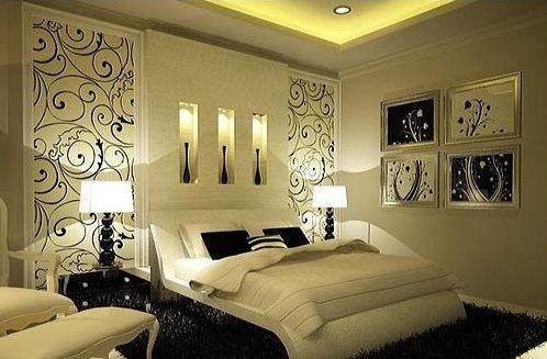 205 mejores im genes sobre decoraci n dormitorios de for Dormitorios modernos en blanco y plata
