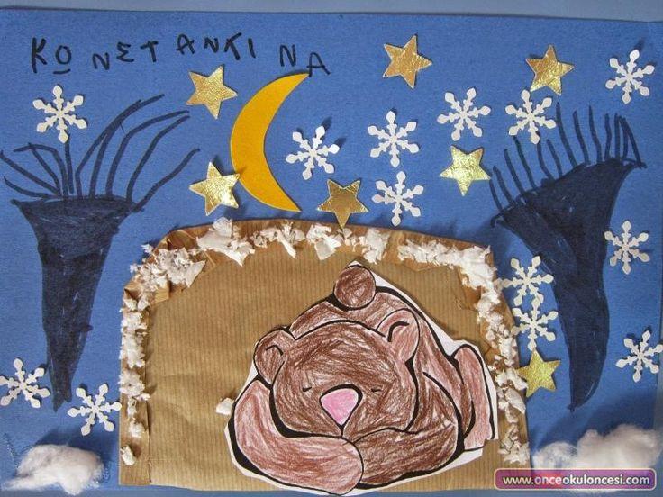 Kış Uykusuna Yatan Ayı Kalıplı - Önce Okul Öncesi Ekibi Forum Sitesi - Biz Bu İşi Biliyoruz