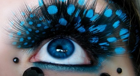 Bright blue dotsPolka Dots, Eye Makeup, Eyelashes, Makeup Ideas, Blue Eye, Eyeshadows, Eyemakeup, Makeup Design, Crazy Eye