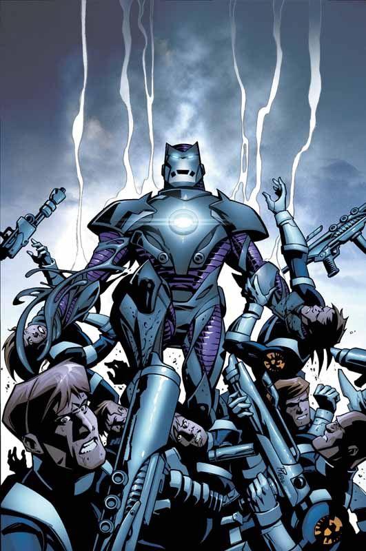 Maniaco de Ferro.  O Maniaco de Ferro de Ferro é, na verdade, o Tony Stark da Terra-5012, só que uma versão muito mais malvada. Ele foi mandado por Reed Richards para o Unvierso 616 sem um motivo aparente. Logo que chegou, ele enfrentou o Quarteto Fantástico e o Doutor Estranho, que pensavam se tratar do Doutor Destino em uma nova armadura. Imagine a surpresa deles ao descobrirem que na verdade quem estava dentro do traje era uma versão Maligna e muito mais poderosa do Homem de Ferro.