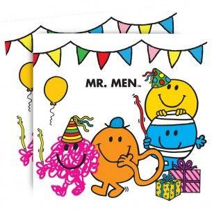 Mr Men Party Napkins - Mr Men Bright - Party Themes A-Z - Kids' Party