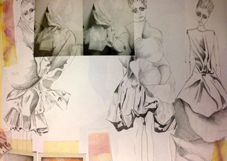 Fashion Sketchbook layout inspiration - fashion sketches; fashion portfolio
