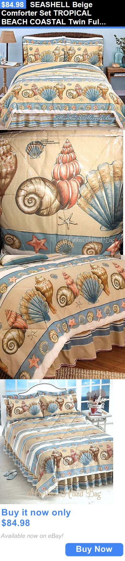 Kids Bedding: Seashell Beige Comforter Set Tropical Beach Coastal Twin Full Queen King Sizes BUY IT NOW ONLY: $84.98