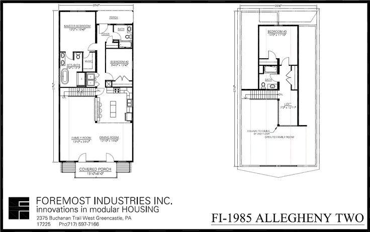 The new fi 1985 allegheny two model home brought to you by for Foremost homes