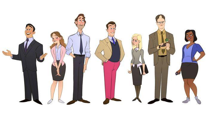 Office Characters As Cartoons Fan Art