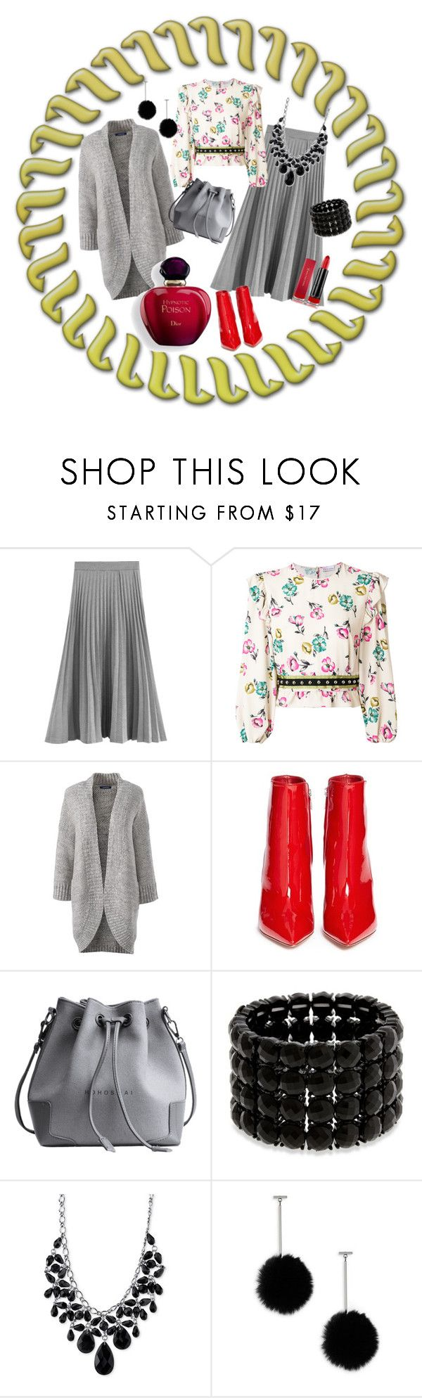 """""""Its A Sunny Sunday"""" by jeanstapley ❤ liked on Polyvore featuring RED Valentino, Lands' End, Gianvito Rossi, Erica Lyons, 2028, tuleste market and Max Factor"""