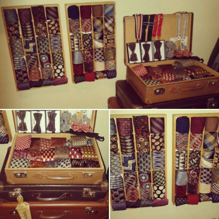 Been sorting out my vintage ties today, a while back i bought two small cabinets that would be perfect to display my favorite ties, got inspired when I've seen ties displayed in gentlemen's dress store's. #vintageties #vintage #ties #wallshelf #cabinets #truevintageootd #tieshelf #display #suitcase #interior #menswear #asesoris #favorite #favoriteties #diy #doityourself #walldisplay #slipsar #favoritslips #vägghylla #slipshylla