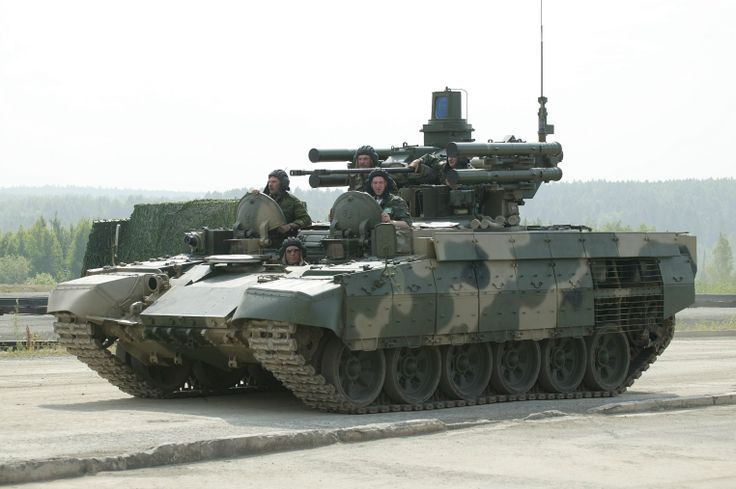 The Russian BMPT: Featuring two 30mm cannons, two 30mm grenade launchers, and four ATGM launchers