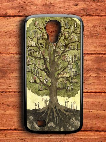 Painting Cartoon Of Tree Samsung Galaxy S4 Case