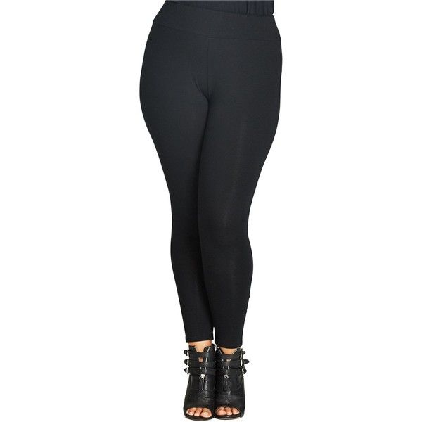 Plus Size Women's City Chic Crisscross Leggings ($17) ❤ liked on Polyvore featuring pants, leggings, black, plus size, legging pants, plus size pants, plus size trousers, see through legging and womens plus pants