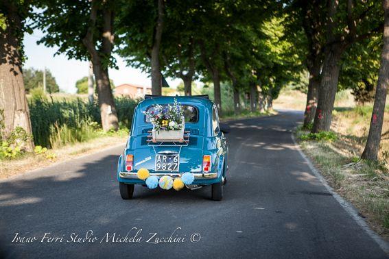 Auto sposi Fiat 500 d'epoca <3 @Michela Zucchini Fotografia
