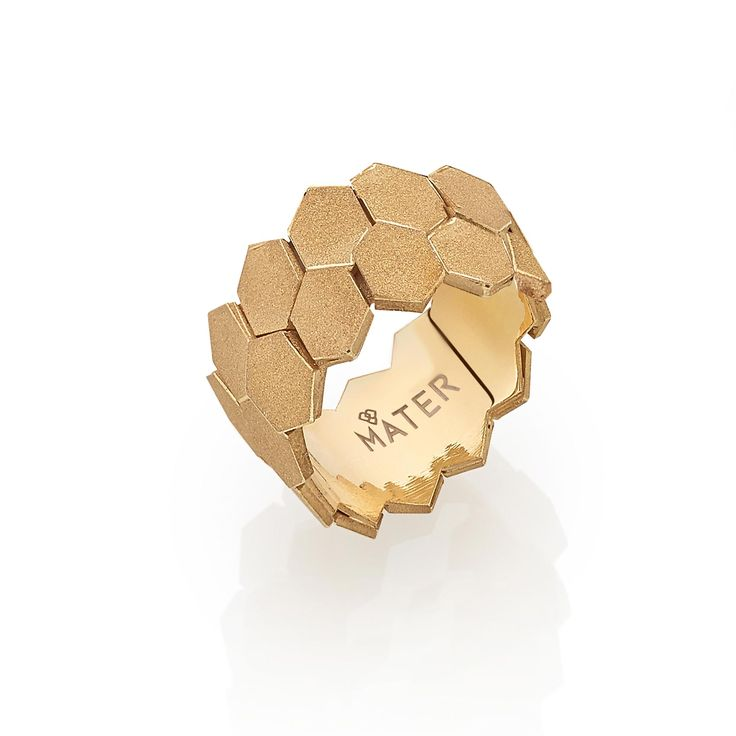 """Leixões Engagement Ring by MATER.  """"It was to be seen, by touching"""". The perception of the """"unruled"""" tiles that covers a large part of Leixões terminal building causes and empathic zig zag that is better felt with your hands.  Silver or Golden plated 925, sand blasted.  #jewellery #jewellerydesign #jewellerylover #ring #silver #goldenplated #lifestyle #luxury #leixoes #materjewellerytales"""