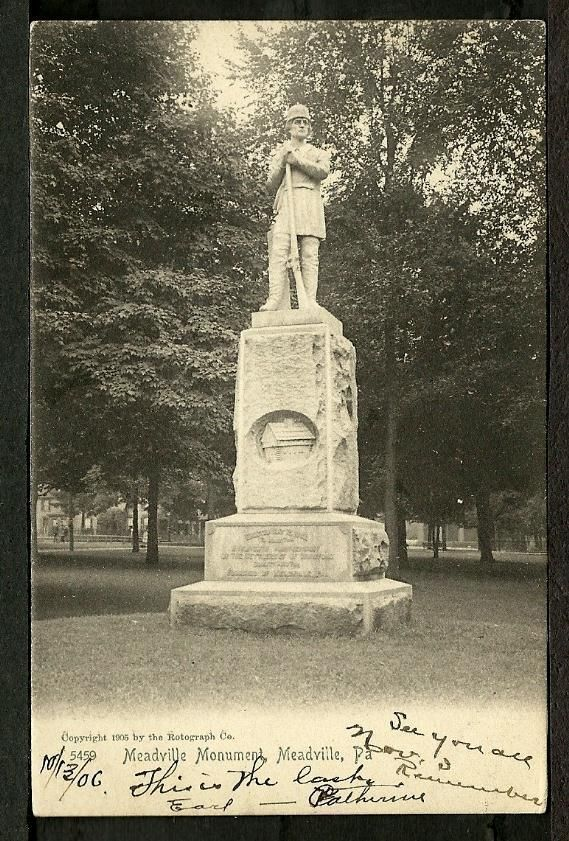 Meadville PA 1906 Pioneer Monument