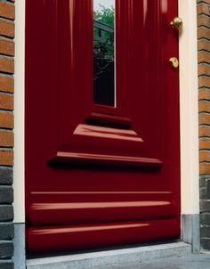 Wijzonol rood op de voordeur #verf #rood #red #paint